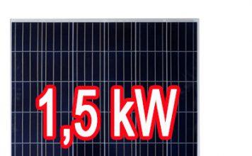 1,5 kw napelem rendszer ár