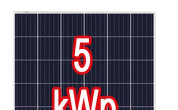 5 kW teljesítményű naperőmű - napelem