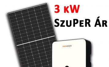 3 kW napelem rendszer ár