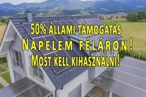 napelemes rendszer támogatás